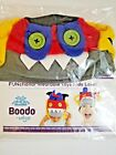 Udoo Planet Boys Gray Red Toothy Boodo Beanie Playful Hat Color block Buttons