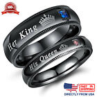 His Queen or Her King Couples Matching Promise Ring Comfort Fit Wedding Band