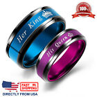 King Queen His or Her Couples Matching Promise Ring Comfort Fit Wedding Band