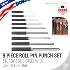 9 Pieces Roll Pin Punch Set Gunsmithing Kit Removing Repair Tool Watch Jewelry