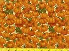 Fall Pumpkin Patch Great Orange Pumpkins Quilting Fabric by the Yard 688