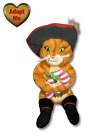 Ty Beanie Babies Shrek The Halls Christmas Puss In Boots Stuffed Plush Animal