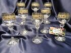 Bohemia Crystal Cordial Glass Set of Eight