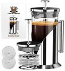 Cafe Du Chateau French Press Coffee Maker 4 Level Filtration System 34 Ounce