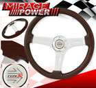 Vip Wood Streak Luxury Drag Type-R Steering Wheel Aluminum Deep Dish Racing Horn