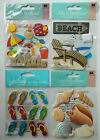 Beached Themed Scrapbook Stickers