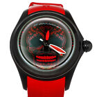 Corum Bubble Red Skull 47mm PVD Steel Automatic Watch L082/03193 Limited Edition