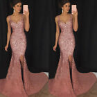 Women Bodycon Maxi Long Mermaid Dress Formal Wedding Evening Party Gown Dresses