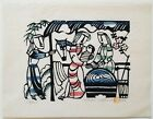 Nativity by Sadao Watanabe Christian Stencil Print Limited Edition Signed