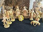 VTG ITALY LARGE CHRISTMAS NATIVITY SET 16 PC MANGER 19 MUSIC BOX SILENT NIGHT