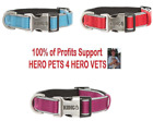 KONG Premium Reflective Dog Collar Adjustable S M L XL Red Pink Blue New Style