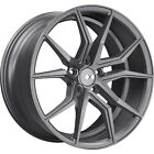 22x9 Gray XO Verona Wheels 5x115 +20 Lifted Fits Suzuki XL 7