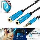 Headset Adapter Y Splitter 35mm Jack Cable with Separate Mic and Audio