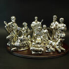 Home The For Holidays 12 Piece Silver Plated Porcelain Christmas Nativity Set