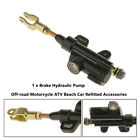 Motorcycle ATV Rear Foot Hydraulic Clutch Master Cylinder Brake Pump Universal