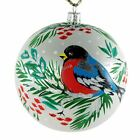 Bullfinch Glass Hand Painted Christmas Ball Ornament
