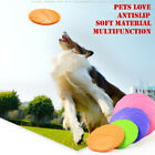 Pet Dog Toy Exercise Frisbee Toy Training Tool Silicone Puppy Saucer Flying Disc