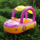 Inflatable Baby Float Seat Boat Car Shape Sun Shade Swimming Water Swim Pool Toy