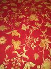 2 1 3 yds REGAL Red and Gold Brocade Upholstery Fabric rich elegant material