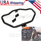 Matte Black Front Crash Bar Engine Guard For Harley Low XL883L XL1200X XL1200CX