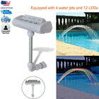 Cascade Waterfall Swimming Pool Fountain Jets Colorful LED Lights Above Ground