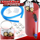 Universal Performance Cylinder Style Aluminum Engine Oil Catch Can Tank Red