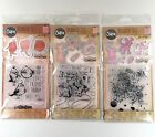Tim Holtz Sizzix Lot Of 3 Sets Cat Bird Dog Clear Stamps Dies Embossing Folders