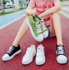 Womens Athletic Casual Printed Canvas Shoes Platform Sneaker Breathable Shoes