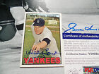 WHITEY FORD auto 2001 TOPPS TEAM signed LEGENDS AUTOGRAPH 1967 fan favorites