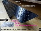 Jeep CJ7 Wrangler Powder Coated Diamond plate Rocker Panels With 90° 1 Inch Bend