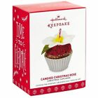 2017 Hallmark CANDIED CHRISTMAS ROSE Cupcakes cupcake ORNAMENT #8