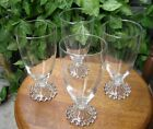 Lot of (4) Anchor Hocking BUBBLE BOOPIE CRYSTAL 6 7/8