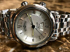 Ulysse Nardin San Marco Alarm Day Date Stainless Steel Silver Dial 603-77