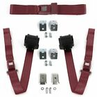 Jeep Wrangler 1987 - 1996 Standard 2pt BURG Bench Seat Kit w/Brackets 3 Belts