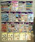 42x HUGE LOT Scrapbooking Stickers Fashion Waves Flowers School Beach Love Train