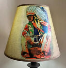 19 Table Lamp  Decorated Shade Native American The Watcher Home Decor