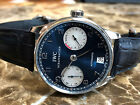 IWC Portuguese 7-Day Power Reserve Steel 42mm Blue Dial Laureus Limited 5001-12