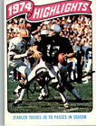 Ken Stabler Signed 1975 Topps Football Card IPA In Person Auto SAI1375