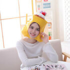 New Cute Pudding Hat Plush Beanie Fleece Winter Fluffy Hooded Adult Kid Cap