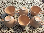 6 Apricot Peach Homer Laughlin Fiestaware Flat Cups - Retired Excellent Used Con
