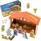 Girls Toy Playset 14 piece Christmas Traditional Nativity Kids Toys Playsets