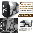 4.2L Stainless Tool Box For BMW R1200GS R1250GS LC Adventure Left Bracket 04-19