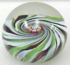 Perthshire Crieff Scotland Art Glass Paperweight with label