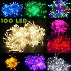 100 LED String Fairy Lights Clear Wires Party Wedding Xmas Dorm Room Decor