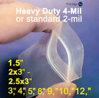 2 - 4mil Sealable Plastic Clear Zipper Bags Small Reclosable Jewelry Top Baggies