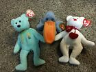 TY Beanie Babies - Lot of 3 - Truly , Ariel and Scoop