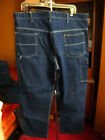 VTG KEY IMPERIAL Denim Carpenter Dungaree Blue Jeans Mens 40x28 MADE IN USA