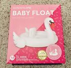 Baby Inflatable Swan Pool Float Raft PVC Summer Pool Fun Party By Sunnylife