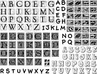 Unmounted Ornate Alphabet Rubber Stamp Sheet collage scrapbook classic S012