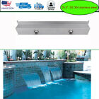 354 Waterfall Box Pool Fountain Stainless Steel Wall Pond Spillway Rectangular